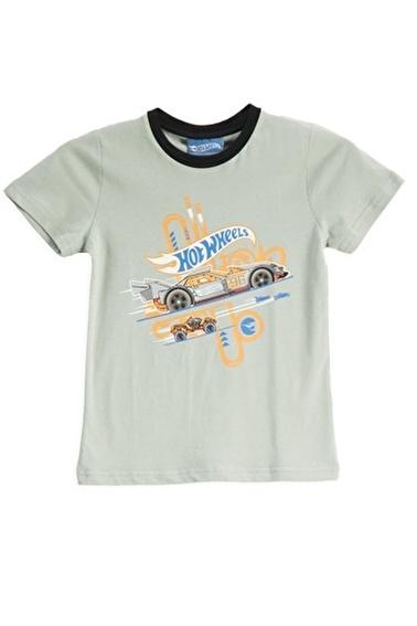 Hot Wheels Hot Wheels Lisanslı Mint Erkek Çocuk T-Shirt Yeşil